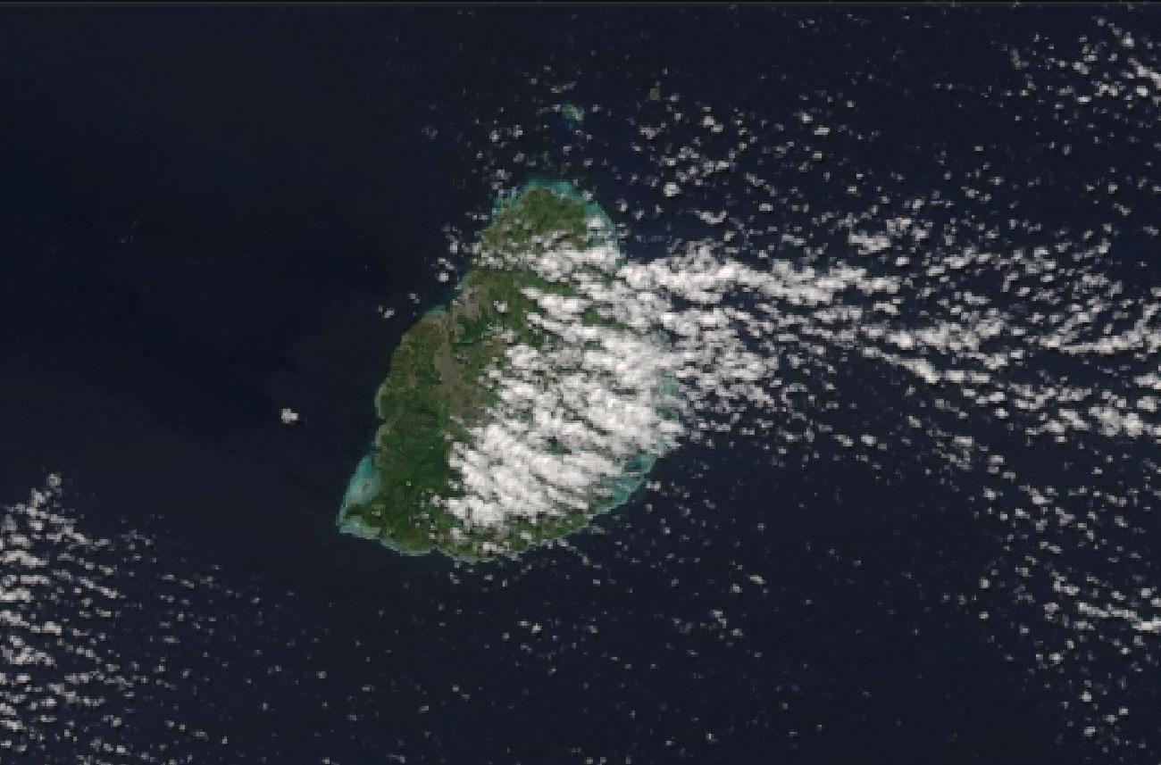 MAURICE capturée par le satellite NPP à 13h50.