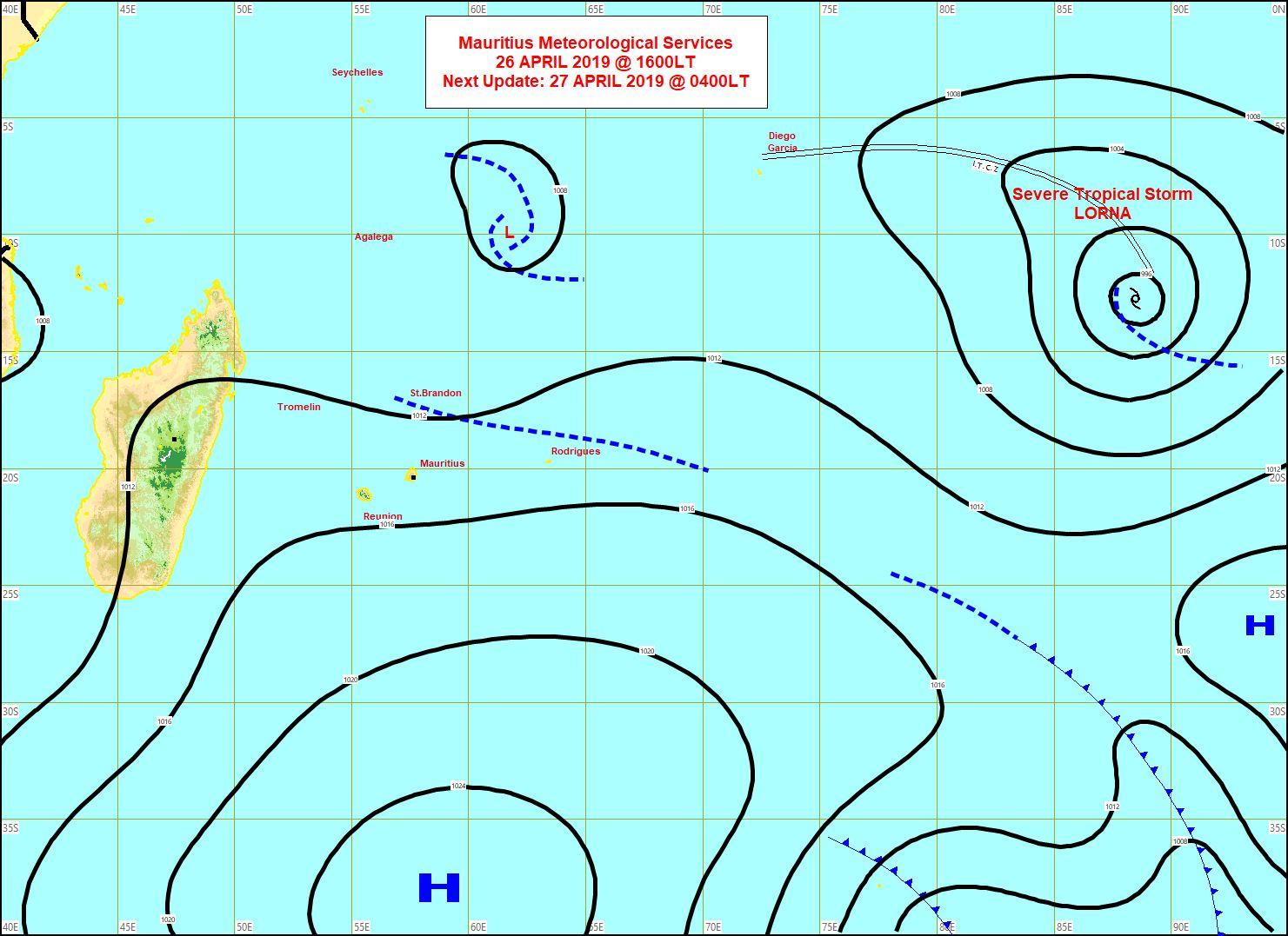 Carte établie à 16h. MMS