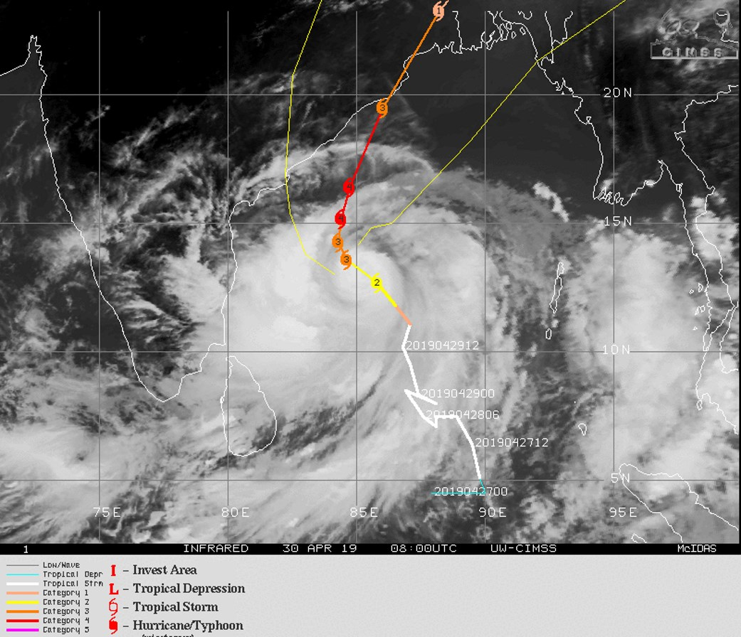 FORECAST TO BE A CATEGORY 4 US IN 36H