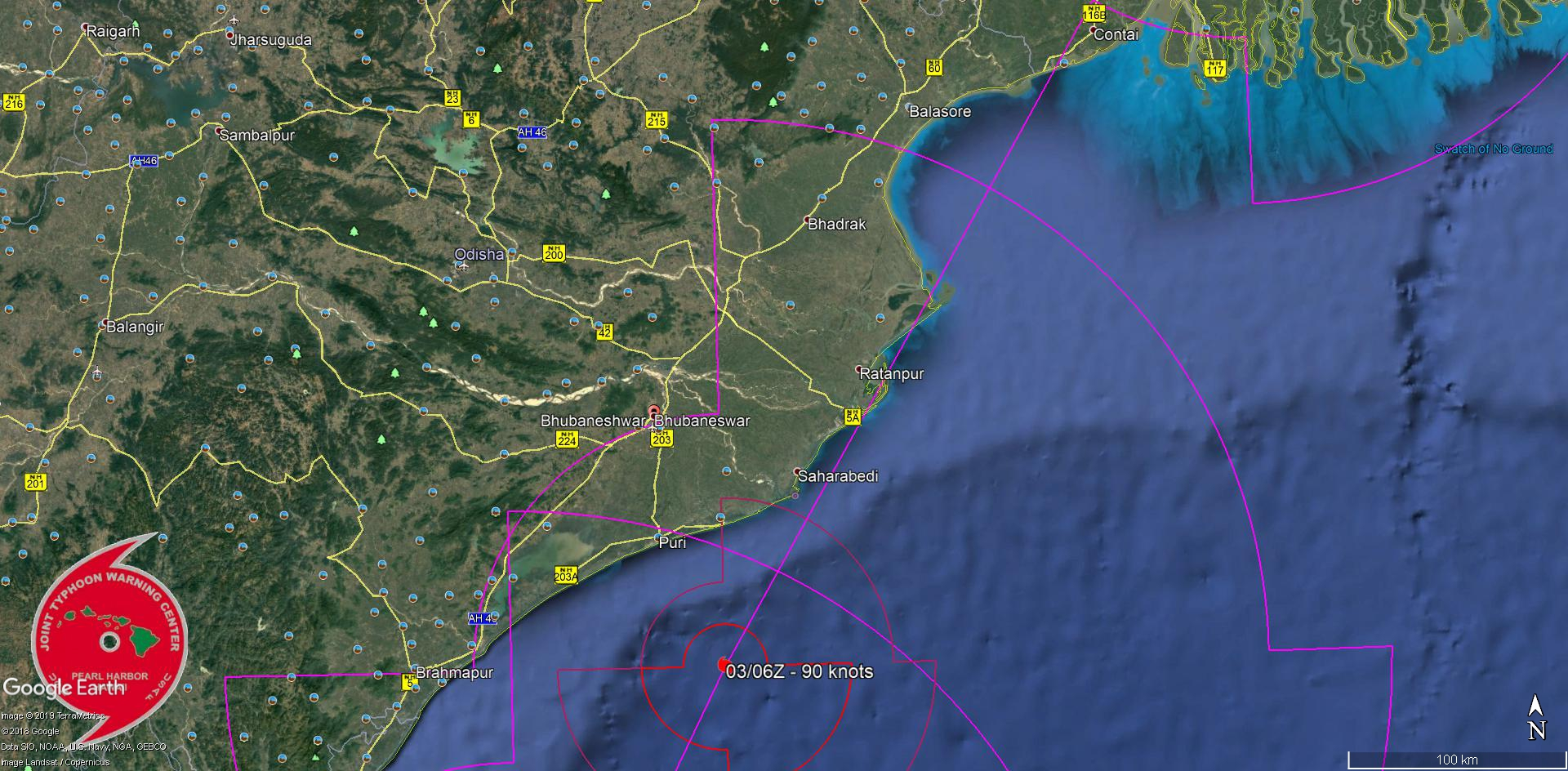 FORECAST APPROACH TO THE INDIAN COASTLINE