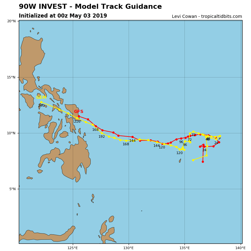 GUIDANCE FOR INVEST 90W