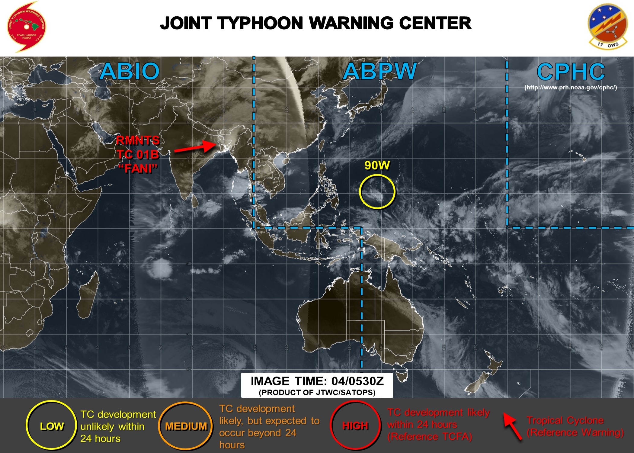 INVEST 90W to the northeast of Palau: no significant development expected next 48/72hours