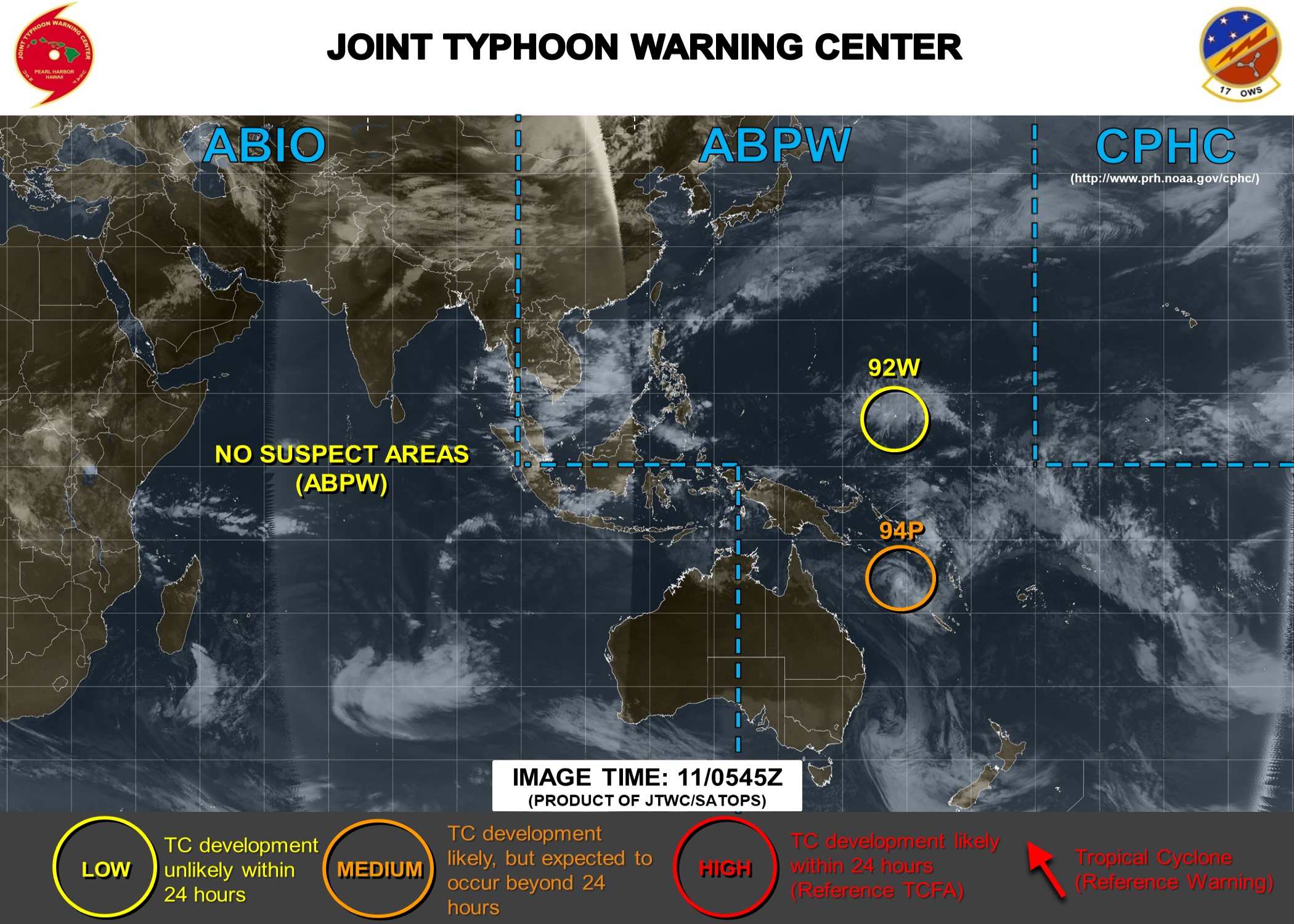 West Pacific: 92W : development unlikely next 48hours. Some models hint at some development after 72h