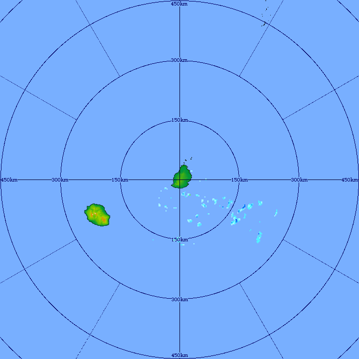 5h41: image du radar de Trou Aux Cerfs. Les averses reviennent par le sud-sud-est. Crédit image MMS