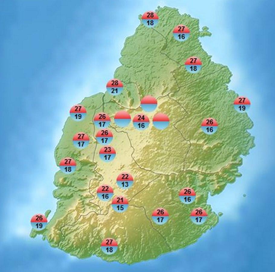 MMS annonce 13° à Mon Bois et 15° celsius à Grand Bassin.  C'est la première fois en 2019 que l'on descend en dessous de 14° à MAURICE selon mes données. Mais cela demande confirmation car MMS a accès à de nombreuses stations non disponibles en temps réel.