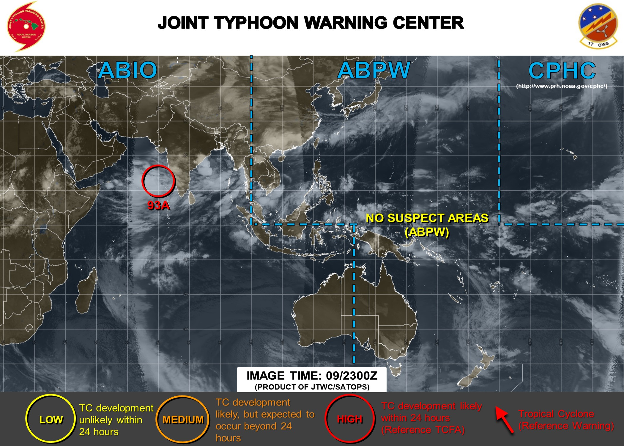Tropical Cyclone Formation Alert(TCFA) issued by the JTWC