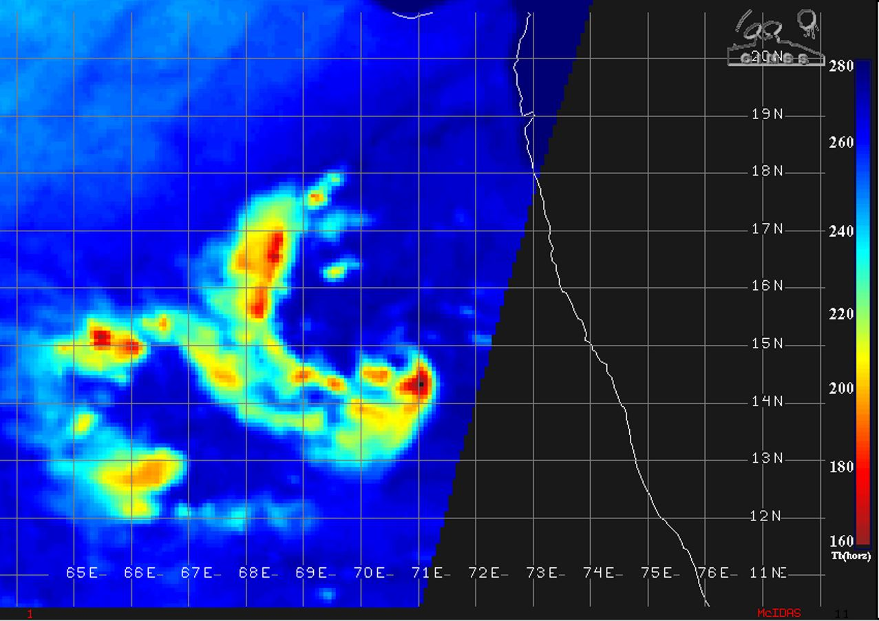0231UTC: MICROWAVE DATA DEPICT A DEVELOPING EYE FEATURE