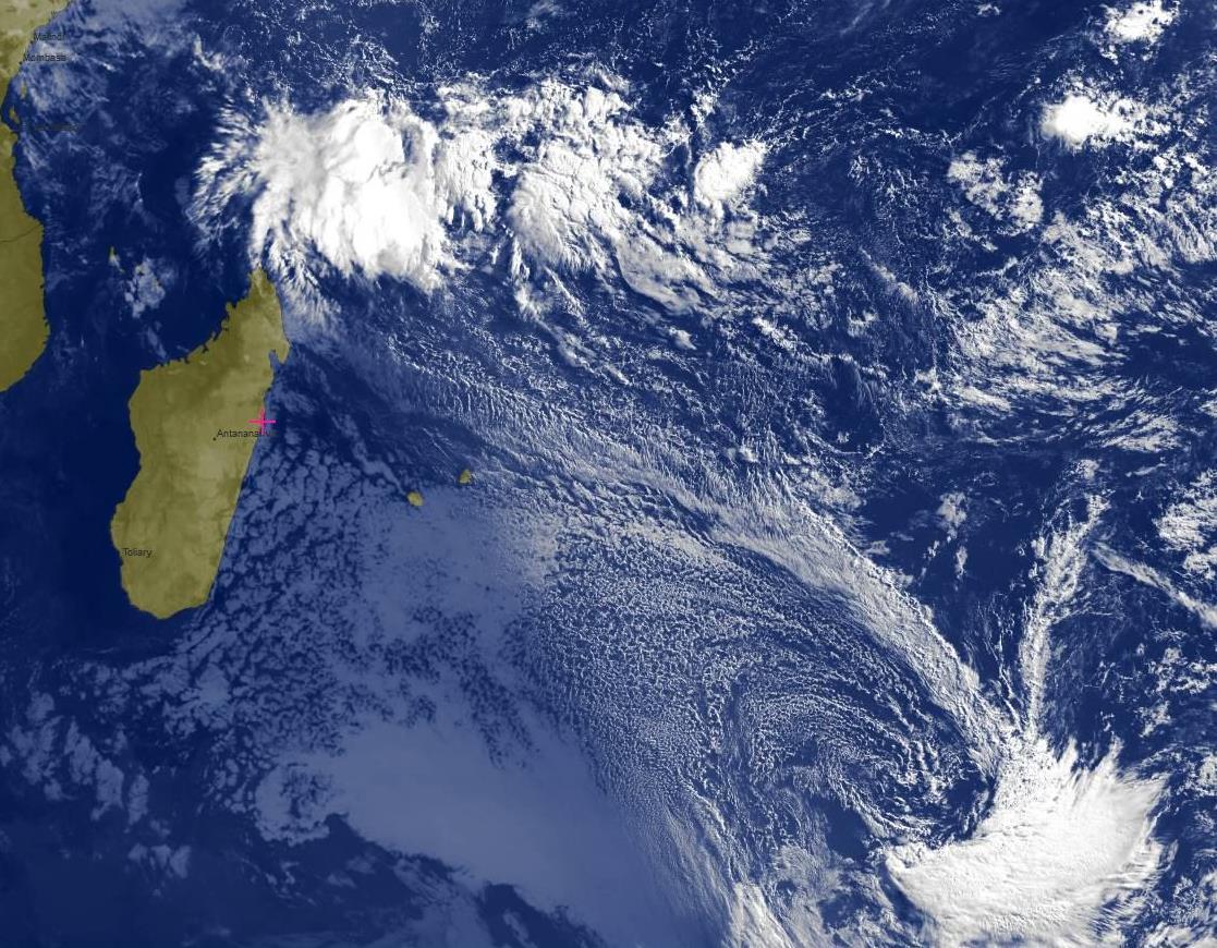 Notre zone vue par le satellite Météosat à 7heures.