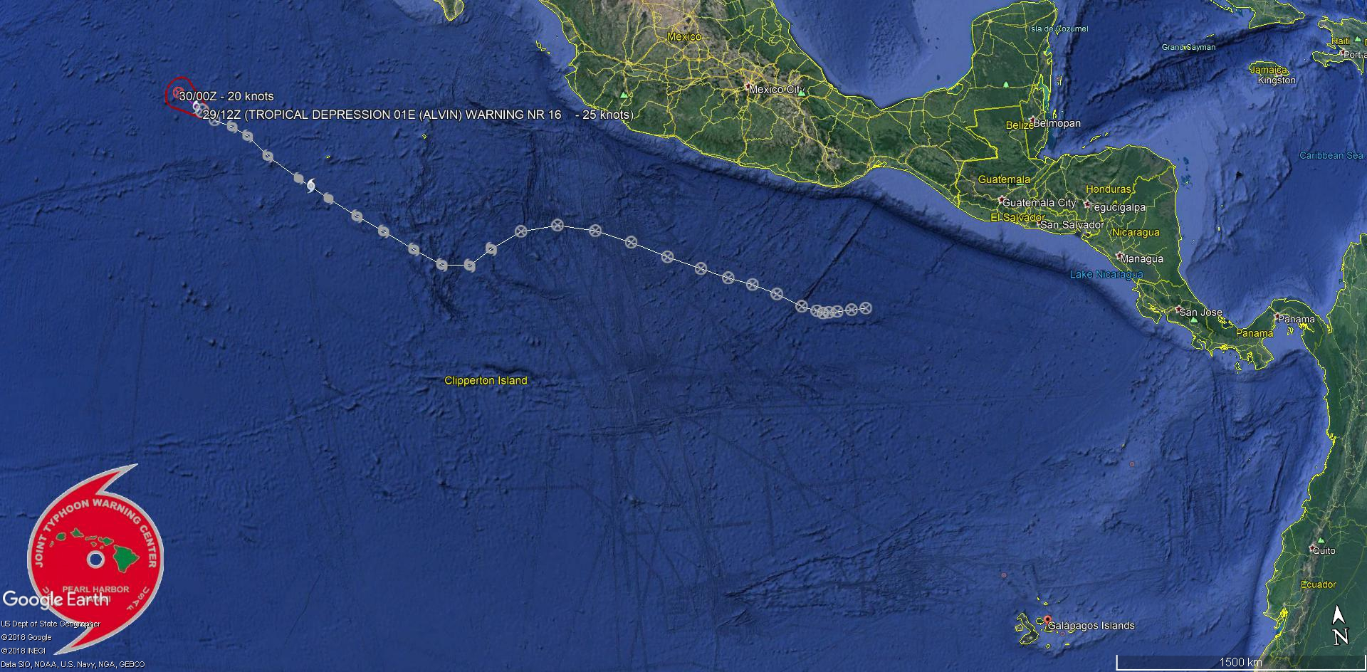 ALVIN(01E): Final Warning, maximum intensity reached was 65knots, category 1 US. JMV File included.
