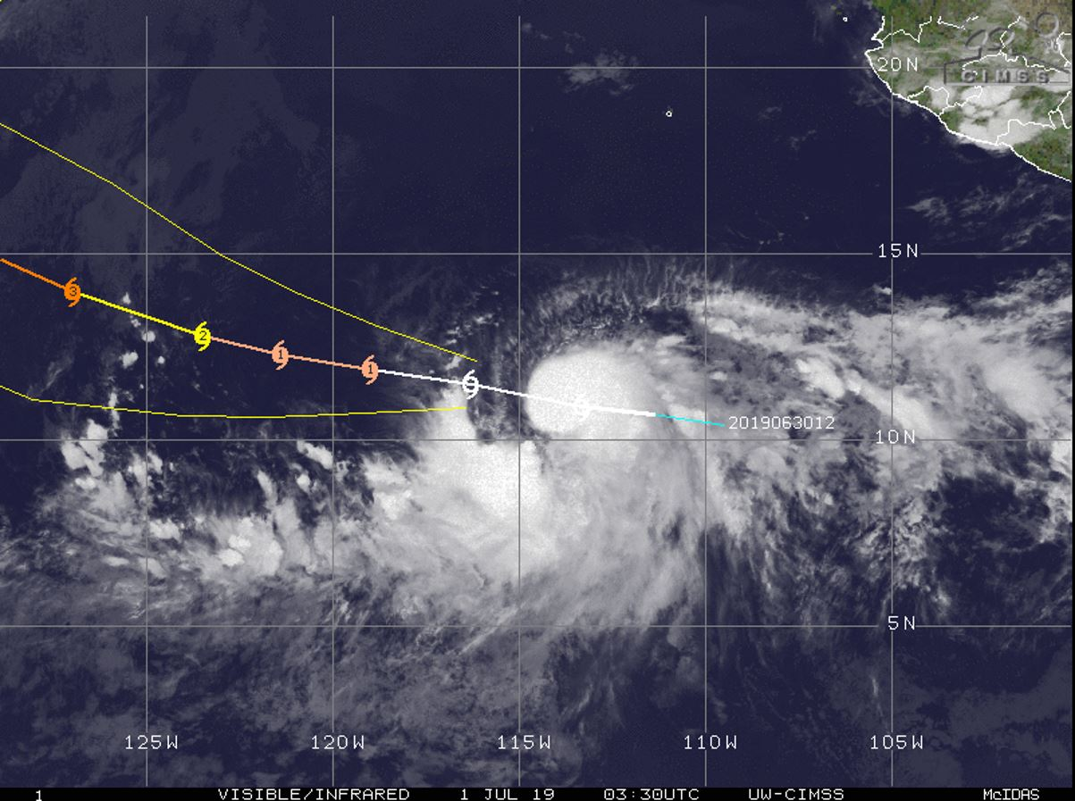 BARBARA(02E) is forecast to reach category 3 US in 72hours