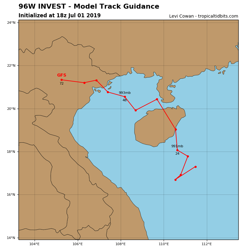 GFS TRACK GUIDANCE