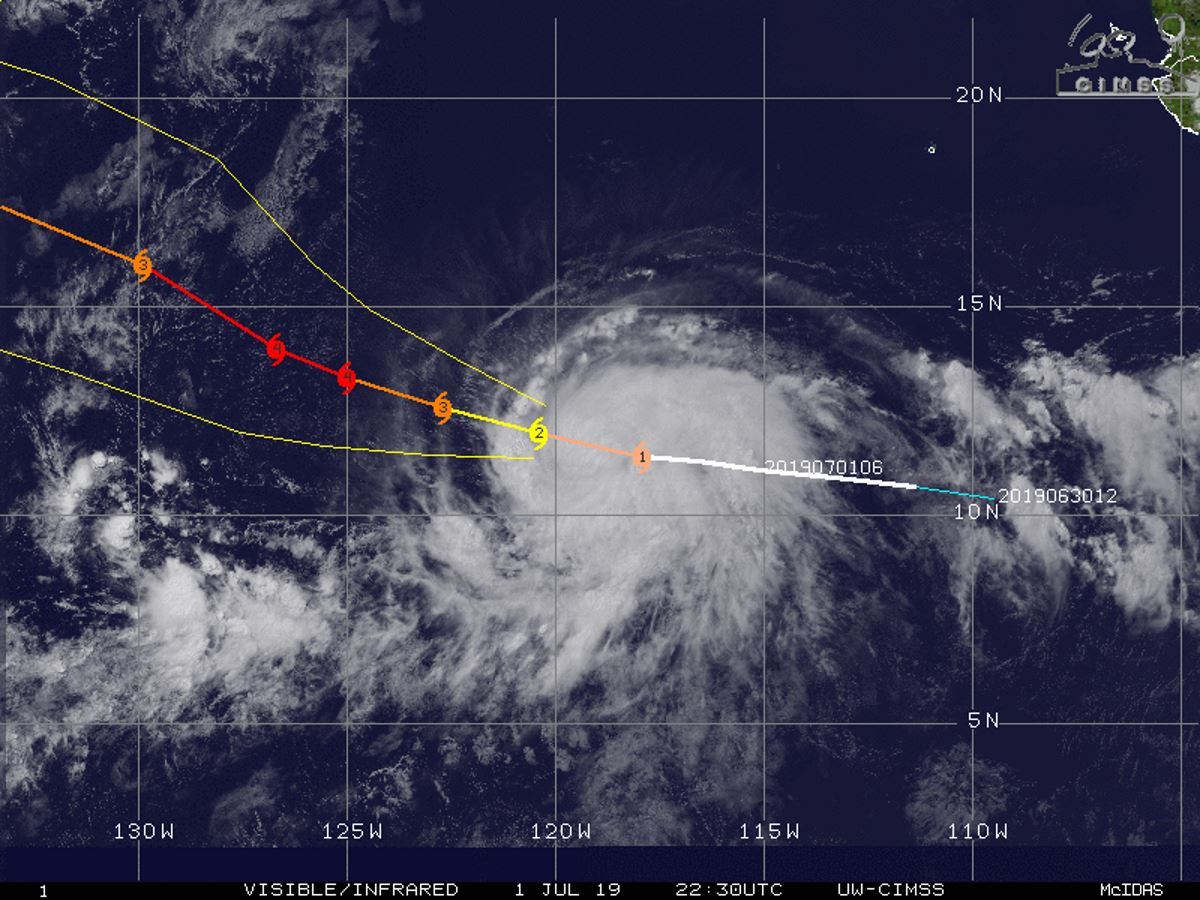 BARBARA(02E) now a category 1 US, intensifying rather rapidly with peak intensity(CAT 4) possible before 36hours