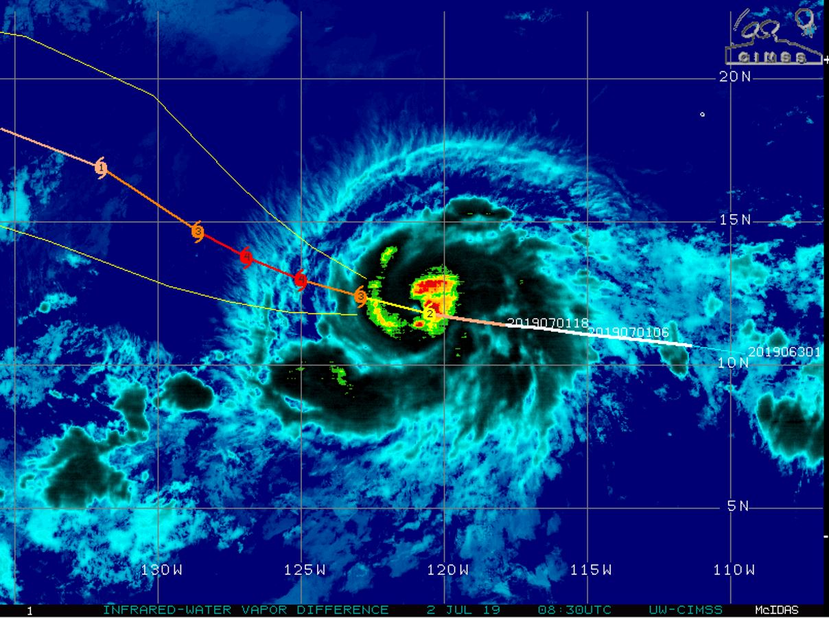 Hurricane BARBARA(02E) now a category 2 US, peak intensity (Category 4) expected within 36hours