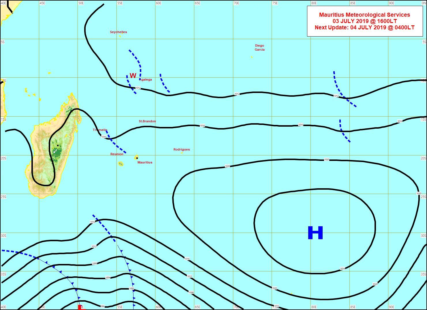 Analyse de surface cet après midi. MMS