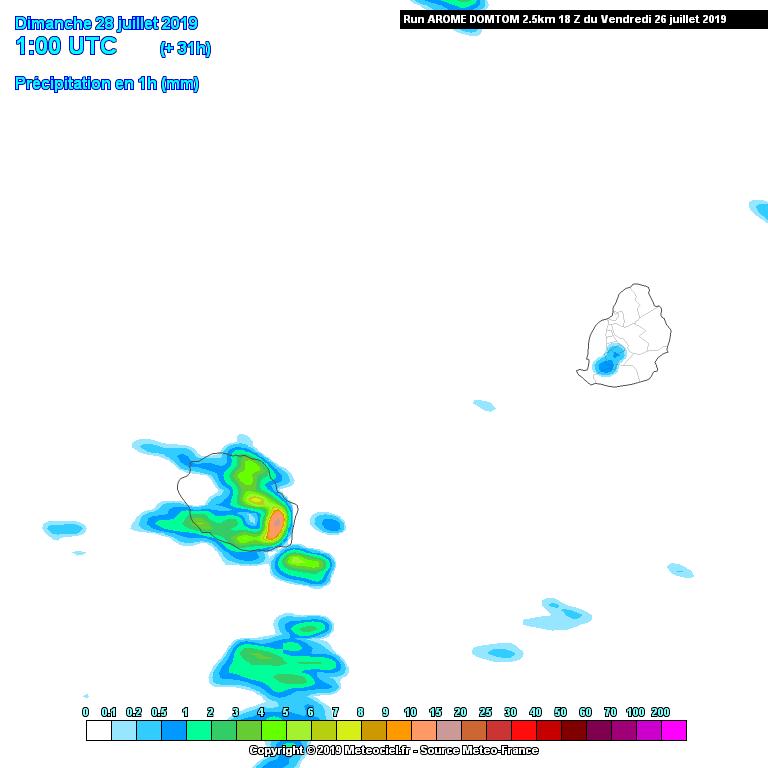 Même si le modèle Arome est peut-être un peu trop agressif il pointe tout de même vers une nuit de Samedi à Dimanche encore une fois humide sur une large moitié Est. A confirmer. METEO FRANCE