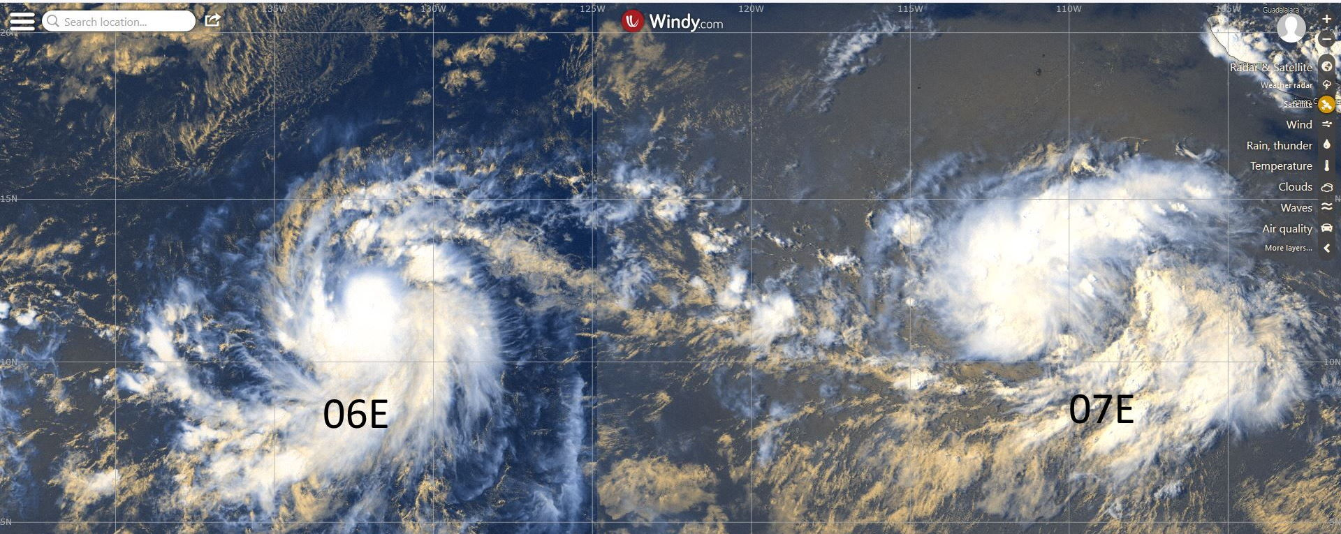 TS ERICK(06E) is forecast to intensify to Category 2 US in 72hours