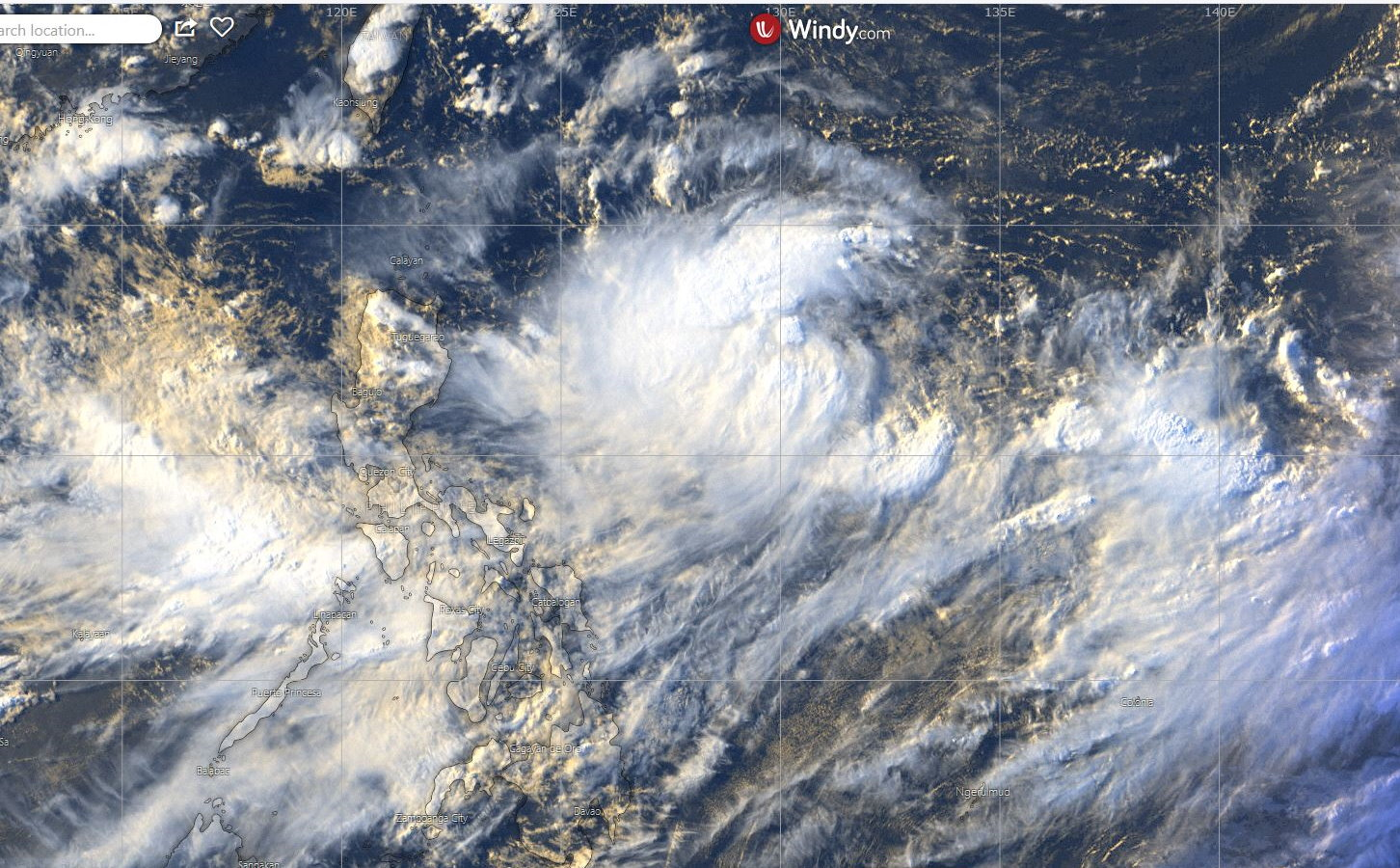 04/0830UTC: TD 10W GRADUALLY GETTING BETTER ORGANIZED TO THE EAST OF LUZON