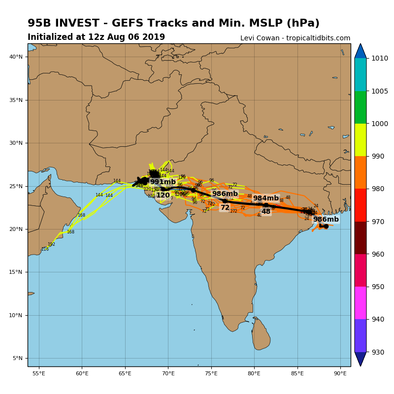 INVEST 95B: TRACK AND INTENSITY GUIDANCE