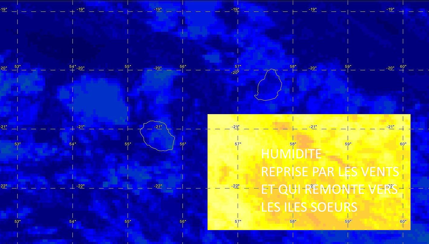 [ VIDEO] Météo Live: humide de Saint Joseph à Sainte Marie et sur les hauts cette nuit et demain matin