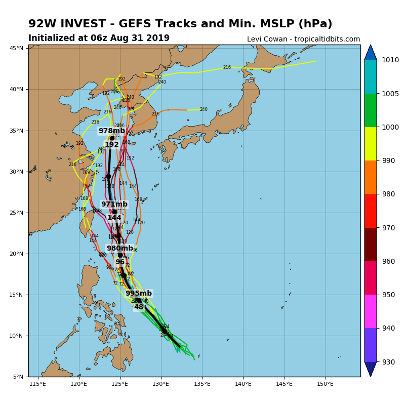 INVEST 92W: TRACK AND INTENSITY GUIDANCE