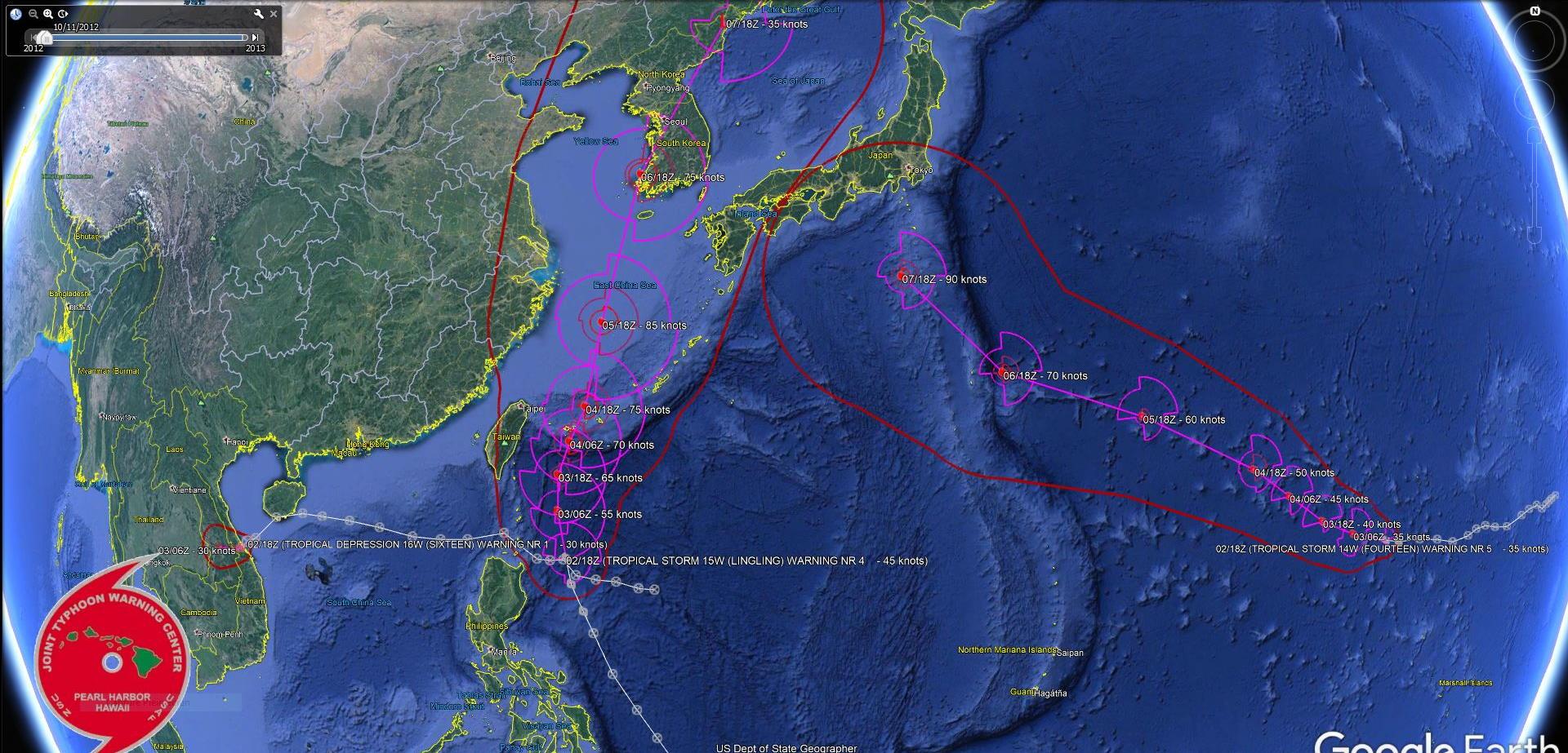 Cyclonic trio: 14W, 15W and 16W: updates