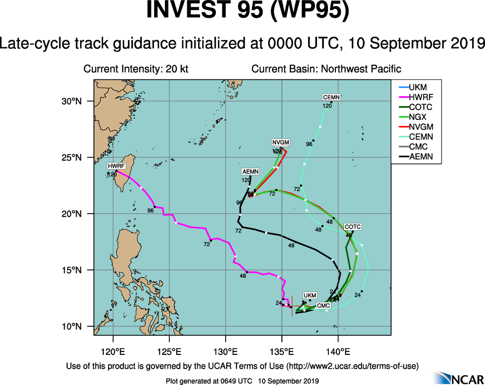 INVEST 95W: TRACK GUIDANCE