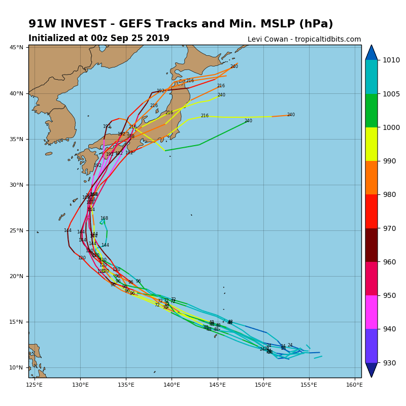 INVEST 91W: EARLY TRACK GUIDANCE