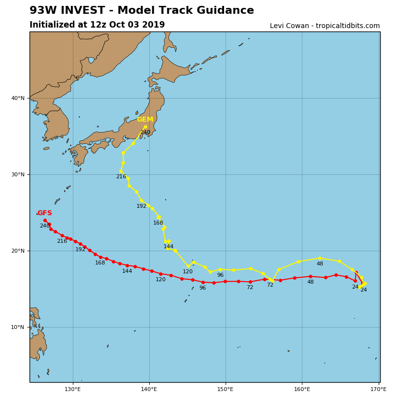 INVEST 93W: TRACK GUIDANCE