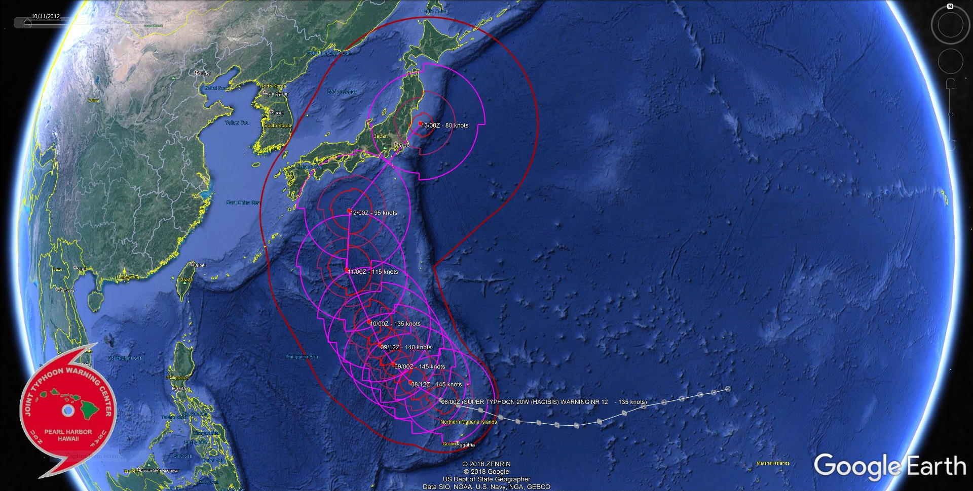 Super Typhoon Hagibis : eyewall replacement cycle