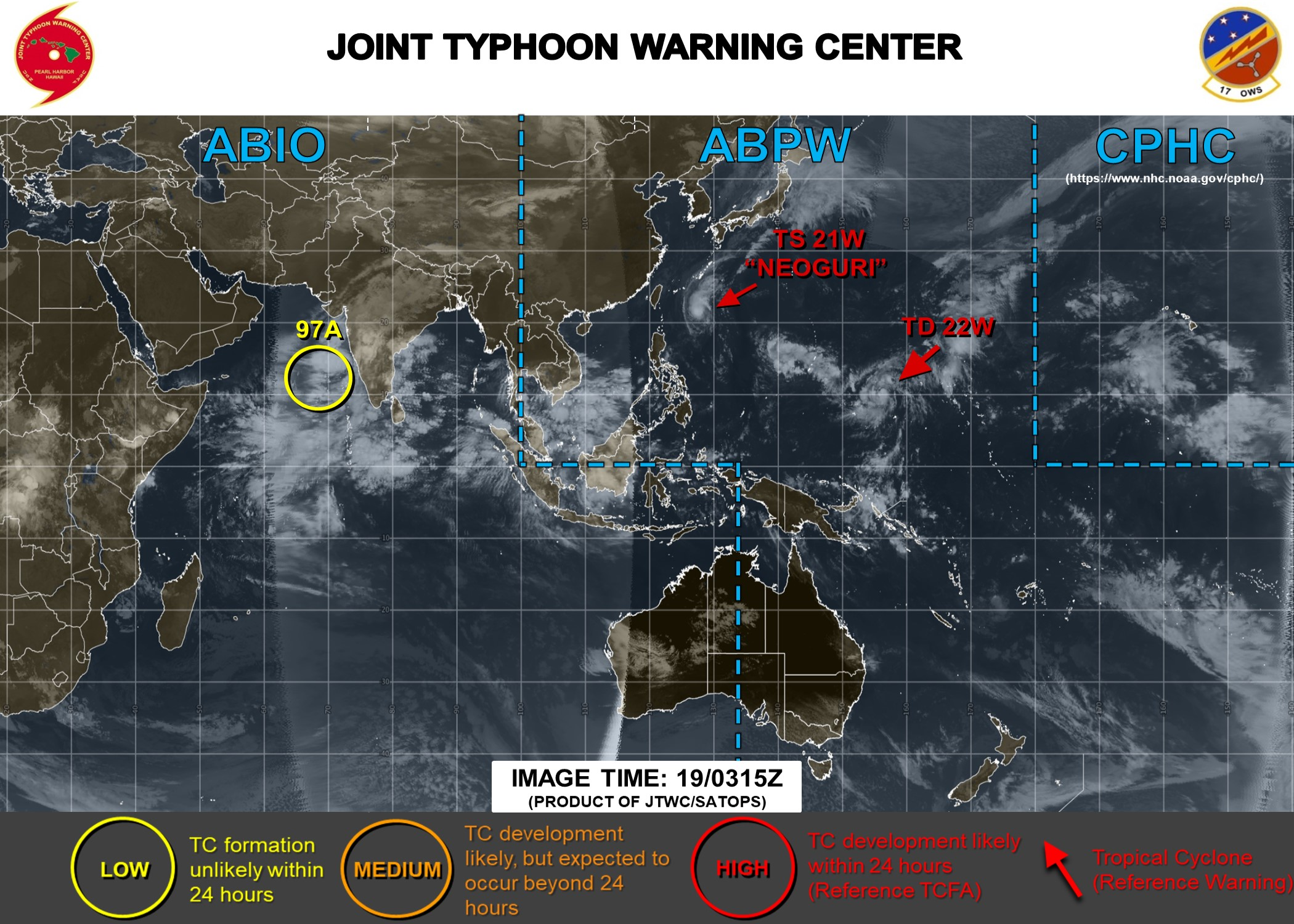 21W and 22W : cyclonic duo being monitored