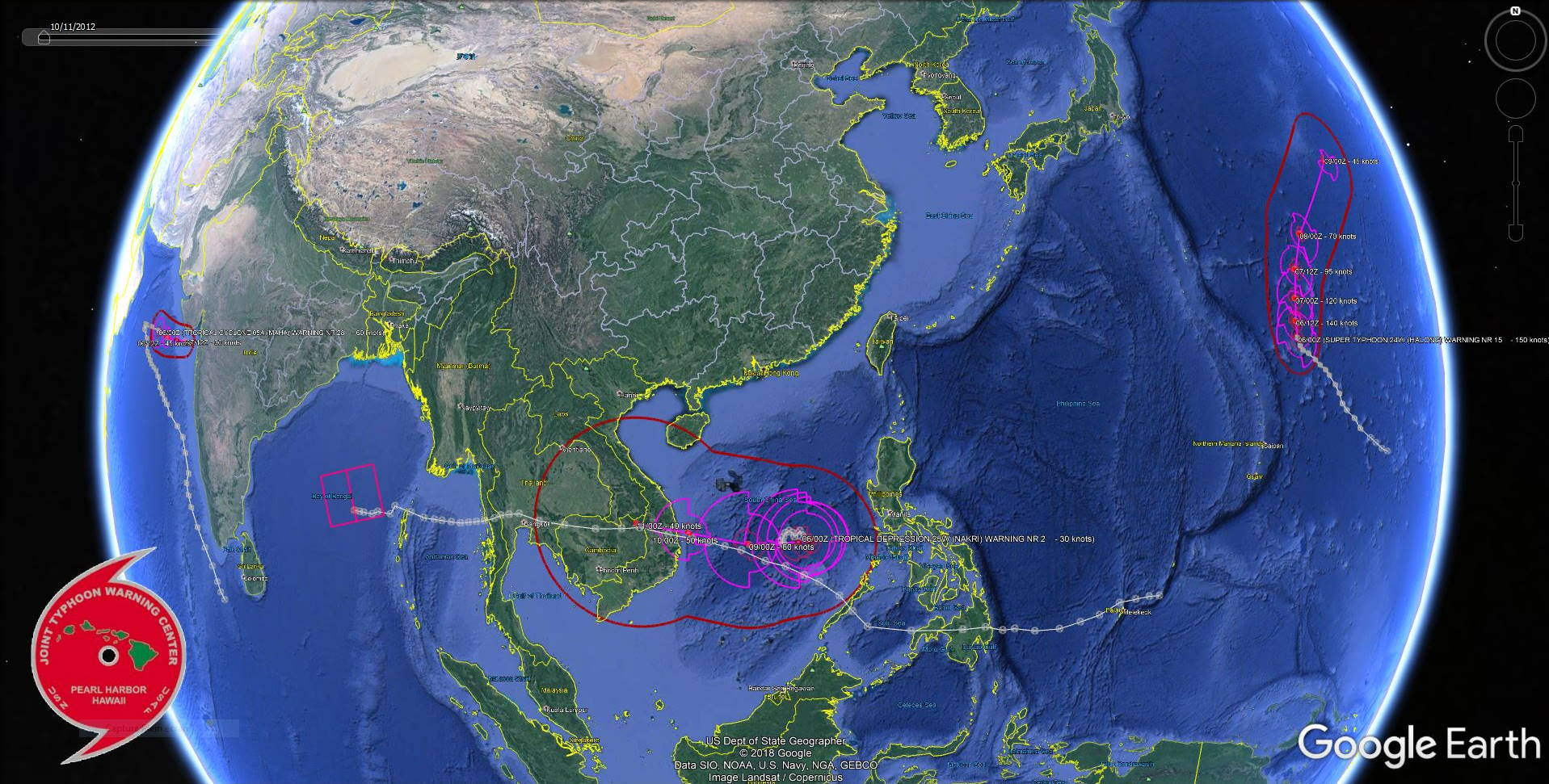 Busy: 4 systems being tracked. Halong(24W) still a Super Typhoon