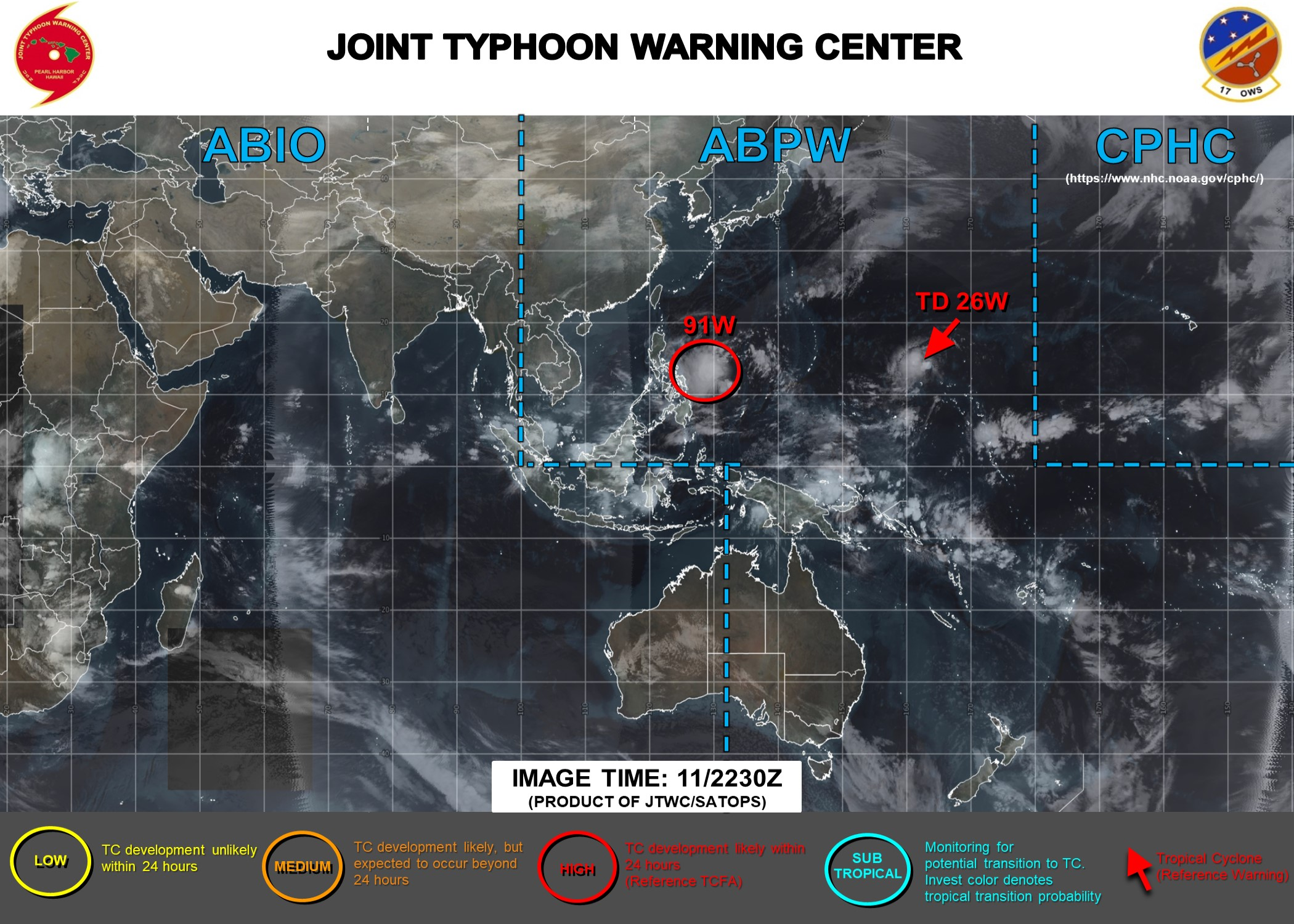 Invest 91W: Tropical Cyclone Formation Alert. TD 26W: update