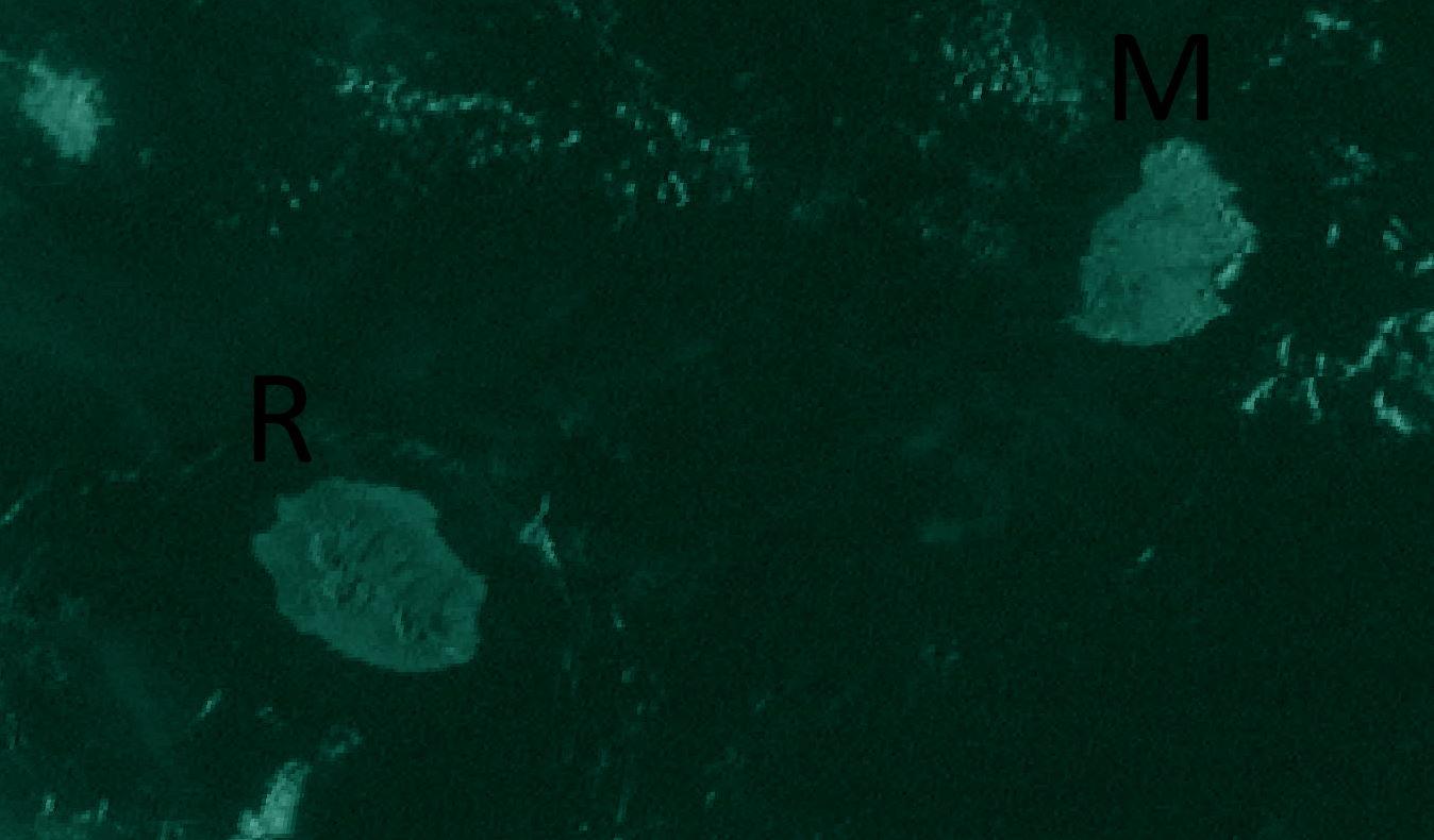 La Réunion et Maurice vues par le satellite indien Insat3D à 7h15 ce jeudi matin. IMD