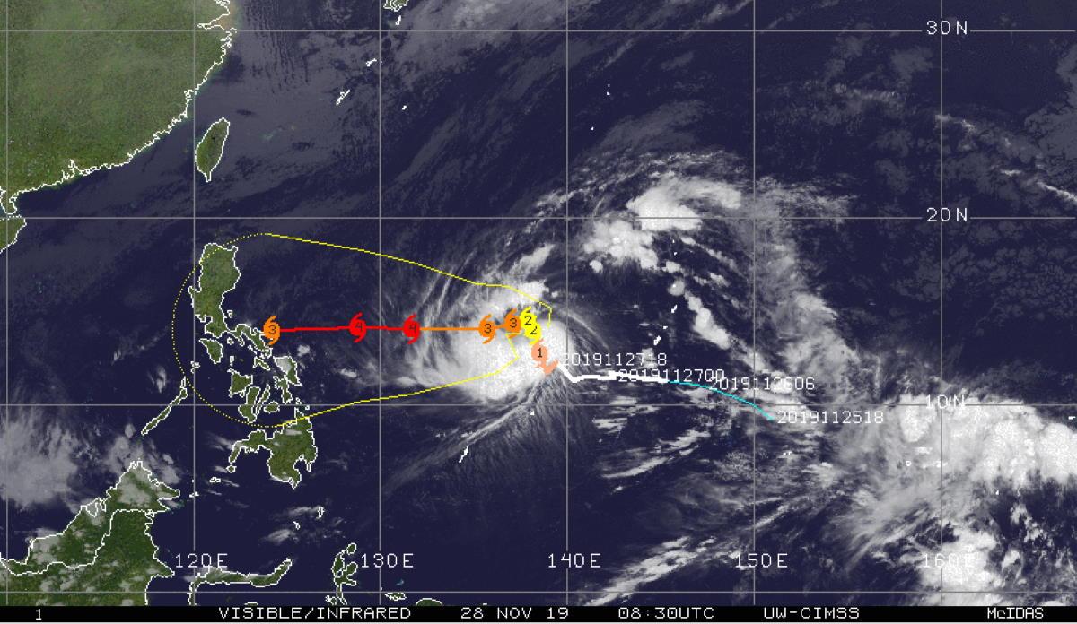 Typhoon Kammuri(29W): update at 28/09UTC