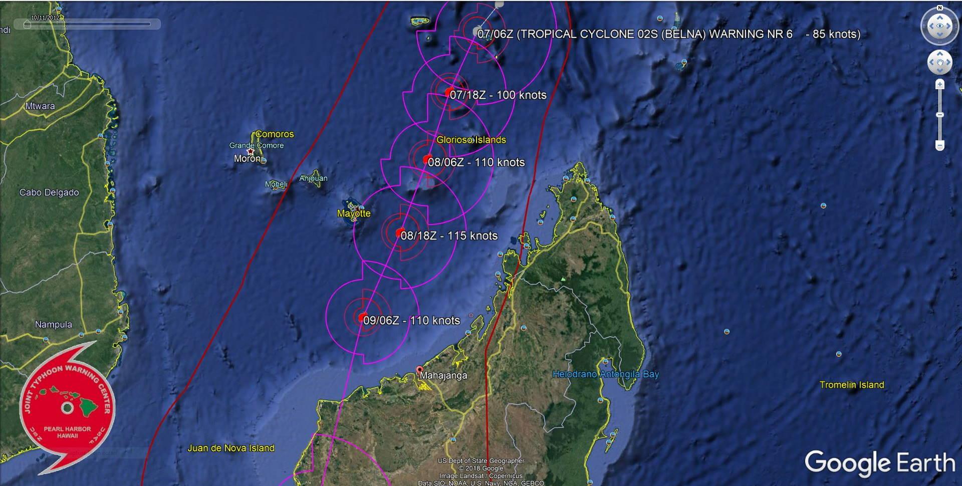 TC 02S(BELNA) cat 2 and intensifying. 03S(AMBALI), Invest 92B and 93P: updates 07/09UTC