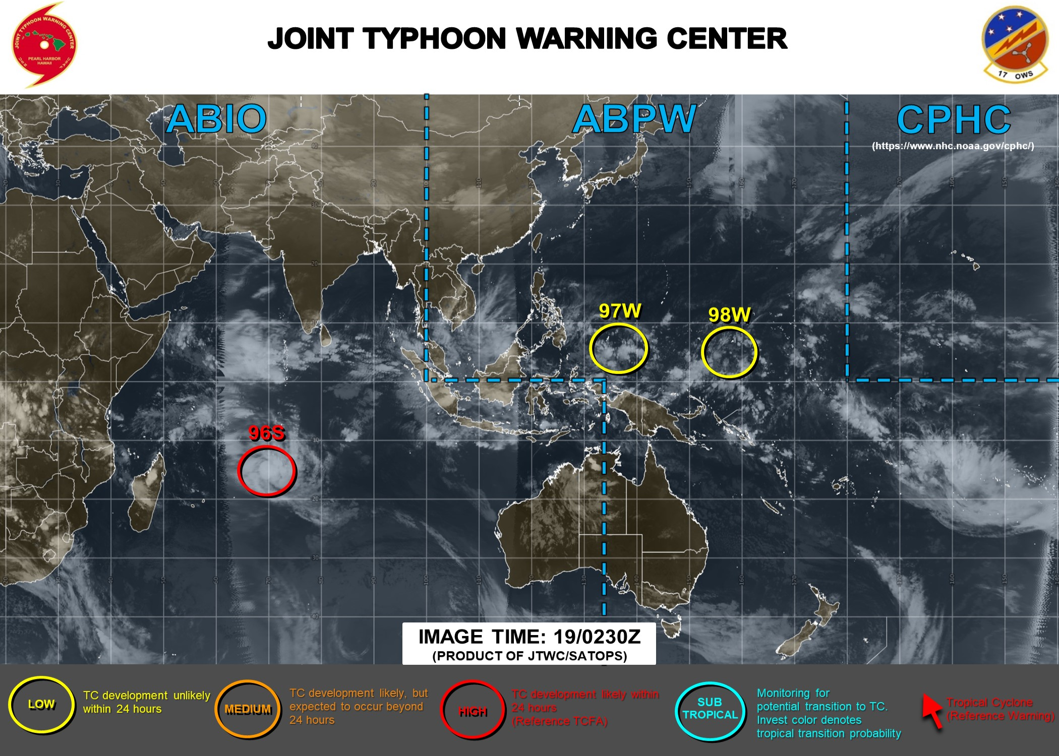INVEST 96S: Tropical Cyclone Formation Alert(TCFA)