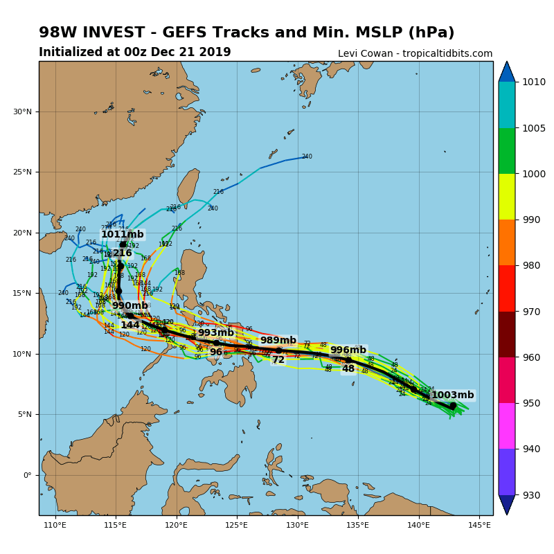 Invest 98W: Tropical Cyclone Formation Alert