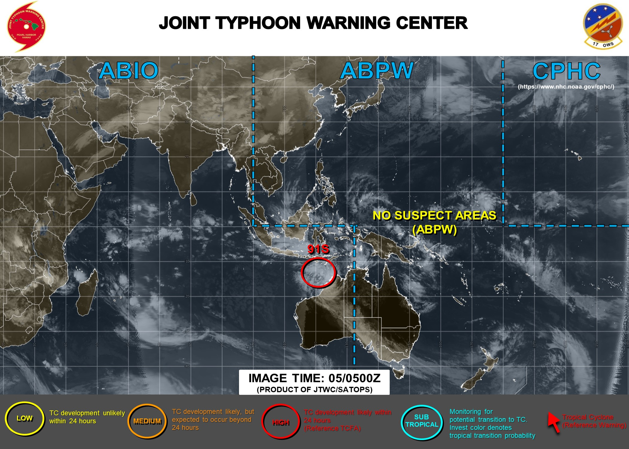 Western Australia: Invest 91S: Tropical Cyclone Formation Alert