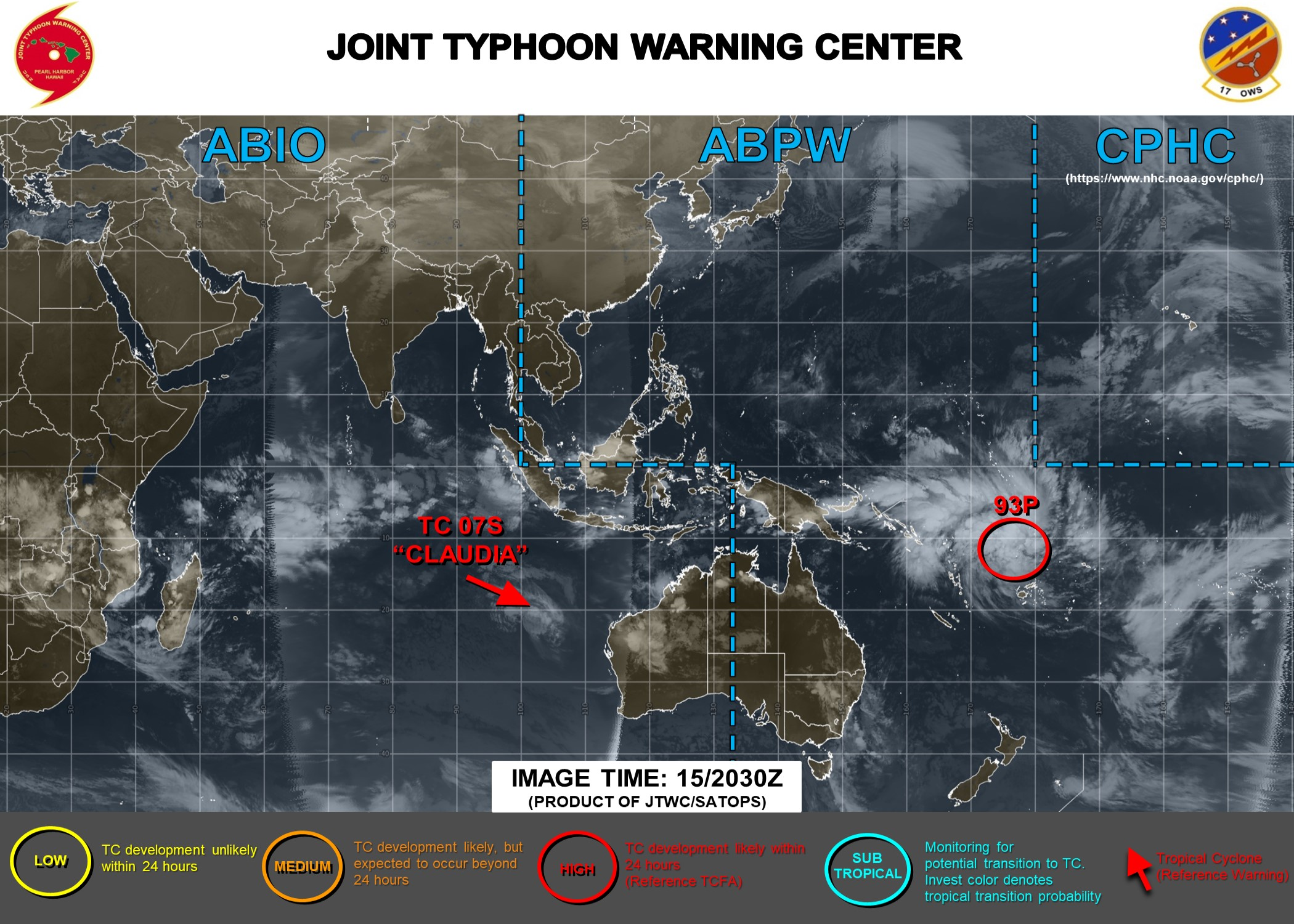 Fiji area: Invest 93P: Tropical Cyclone Formation Alert