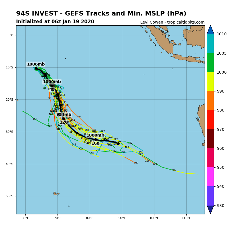 South Indian: Invest 94S: development potential: Medium for the next 24h