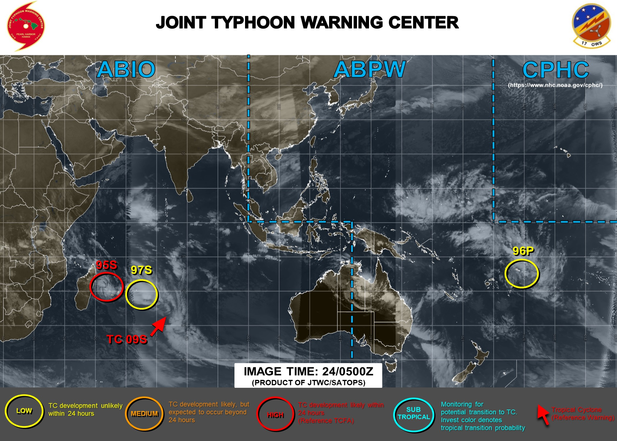 South Indian: 95S : Update at 24/06UTC