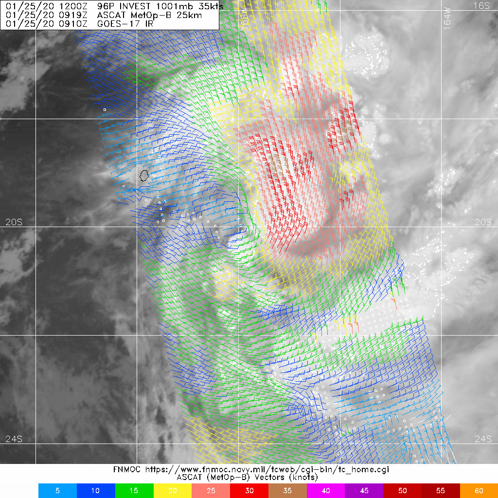 South Pacific: Invest 96P now TC 12P, South East of Niue, intensity peaking shortly