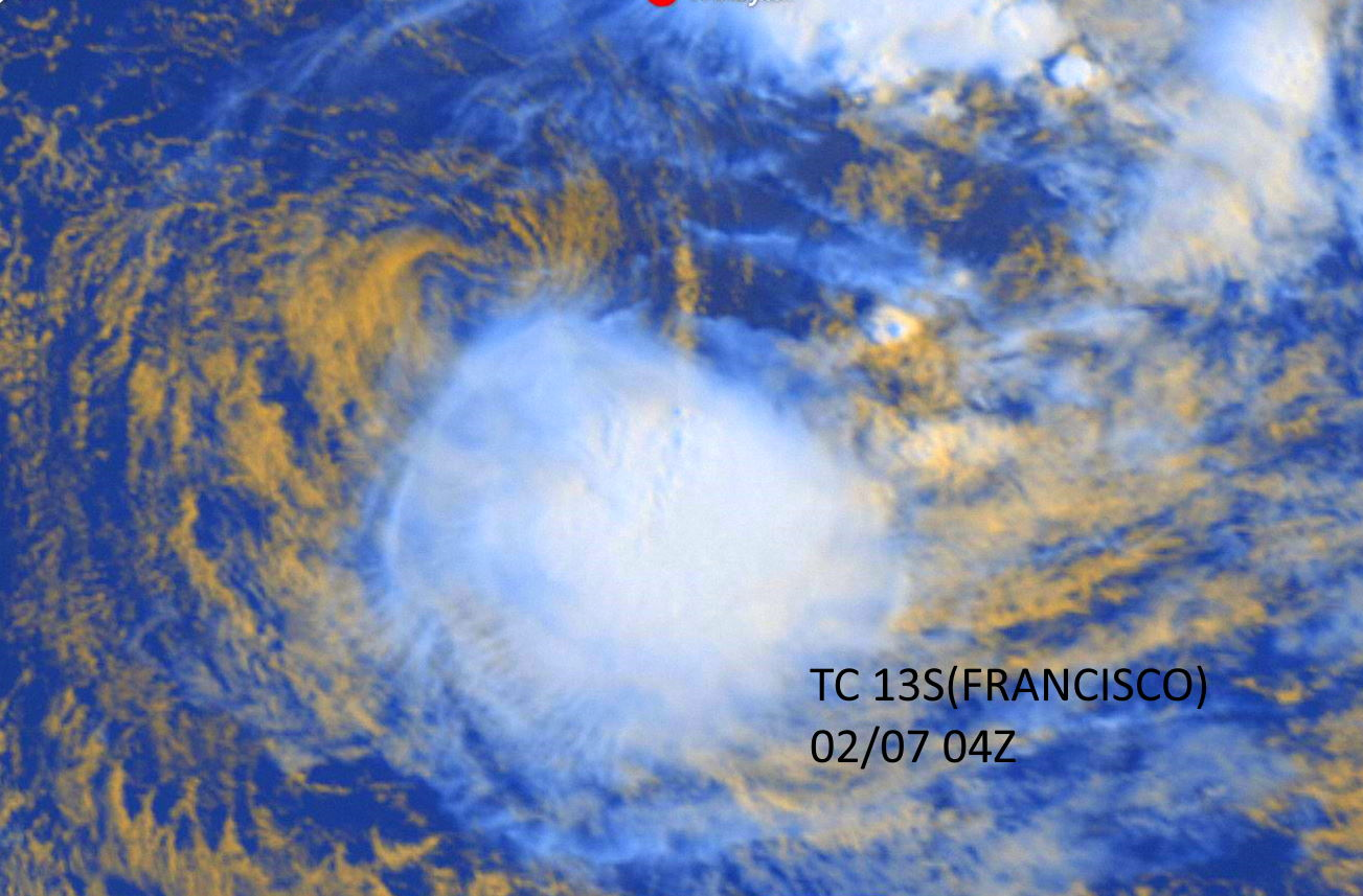 TC 14S(DAMIEN) intensifying, 13S(FRANCISCO) & 91P: updates at 07/03UTC