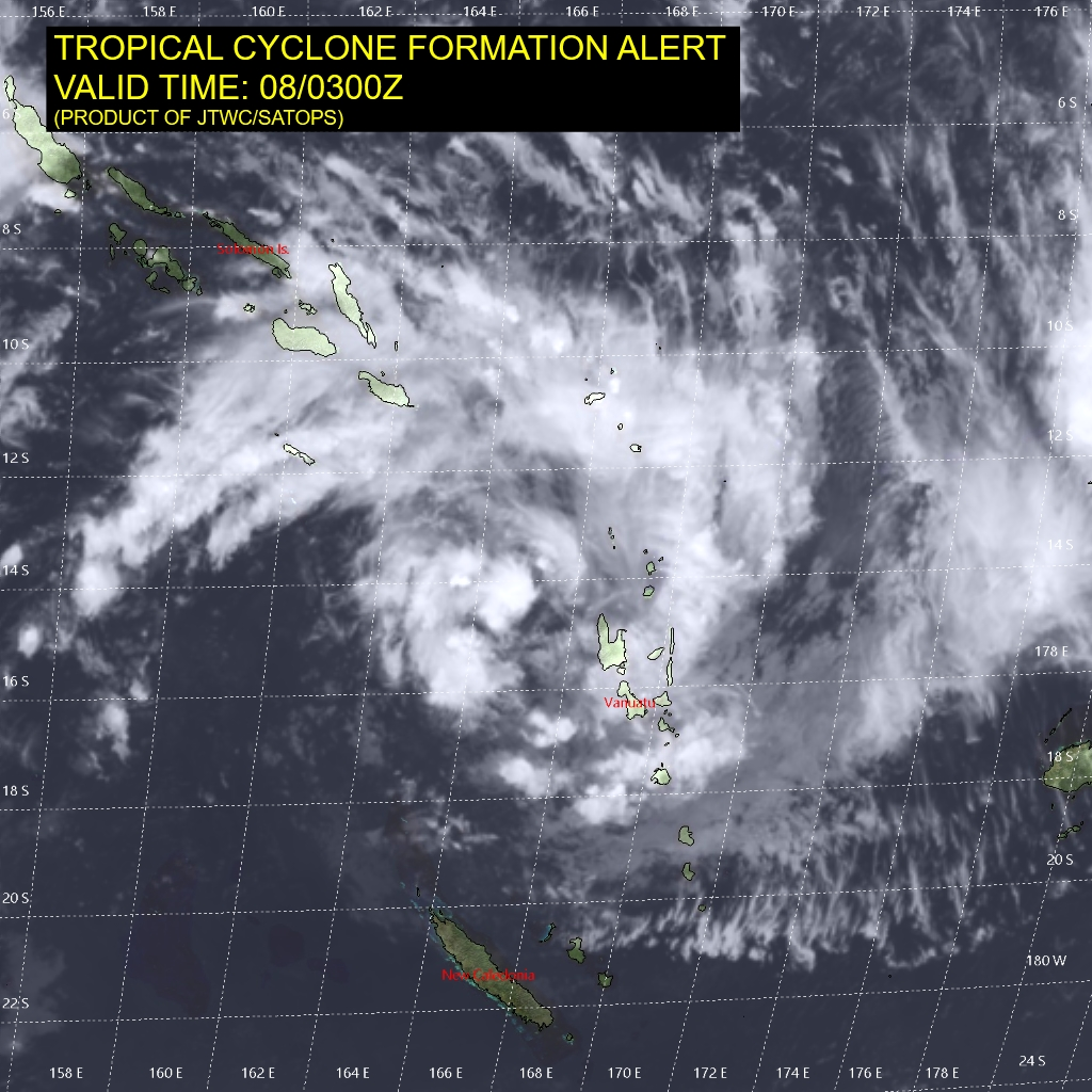 South Pacific: Invest 91P : Tropical Cyclone Formation Alert