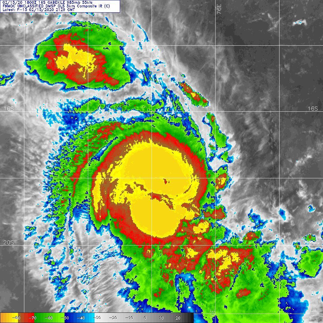 TC 16S(GABEKILE): category 1 US and Invest 93P: updates at 16/06UTC