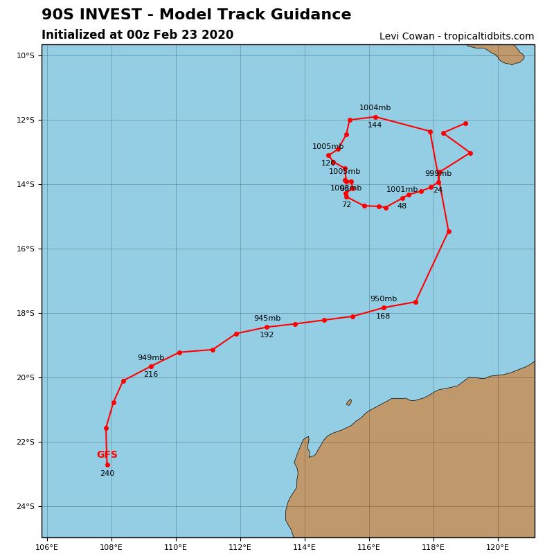 TC 18P(WASI) , Invest 99P and Invest 90S: updates at 23/06UTC