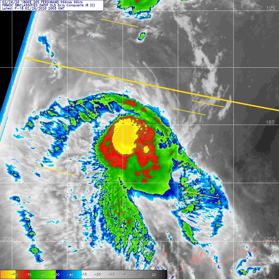 TC 20S(FERDINAND): CAT 2 US but expected to weaken rapidly from now on. 19P: 26/21UTC update