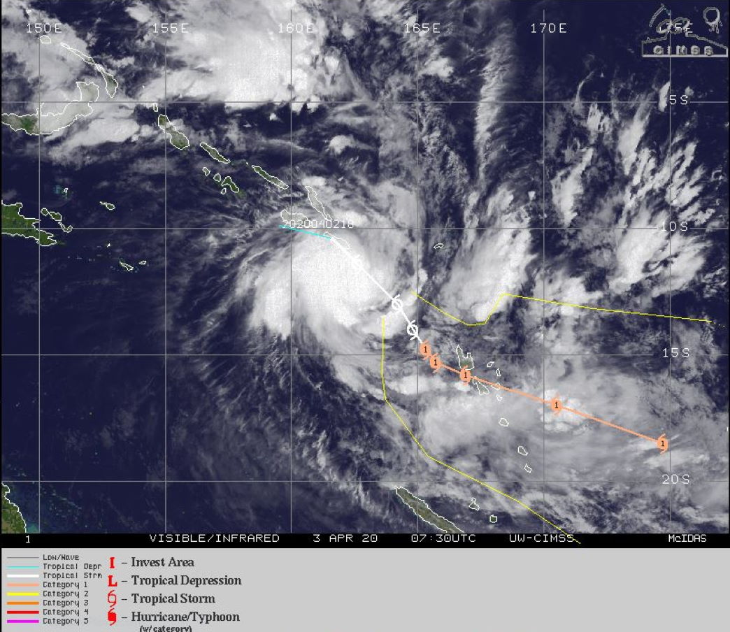 TC 24S(IRONDRO) intensifying ,TC 25P(HAROLD): potential direct threat to Vanuatu