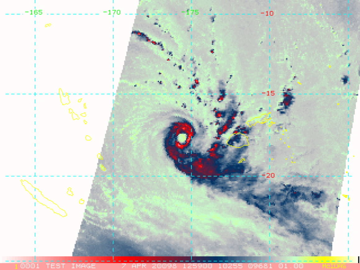 Intense Cyclone 25P(HAROLD) rapidly approaching Fiji