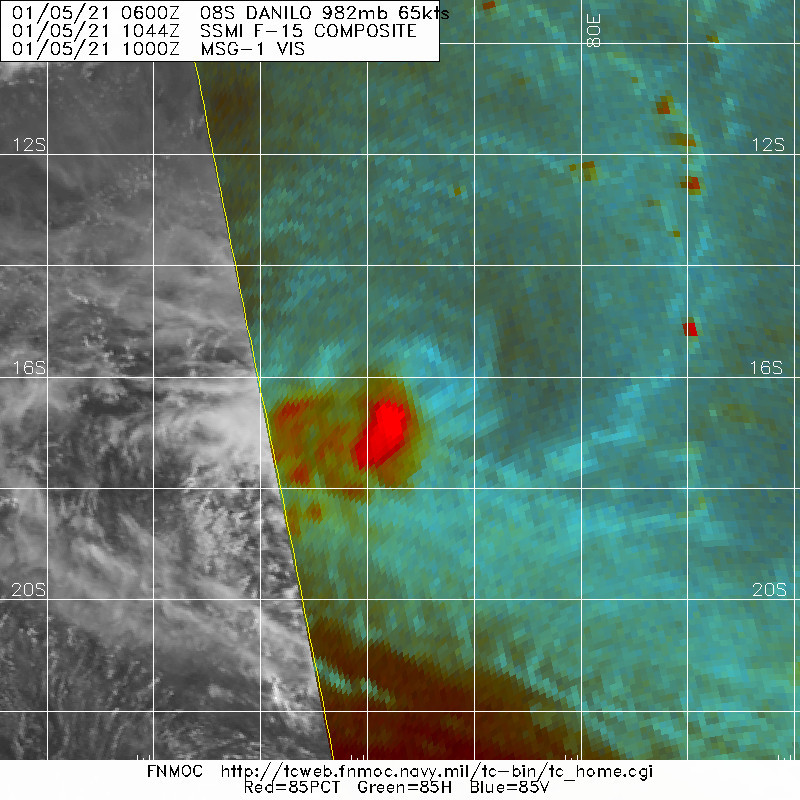 MICROWAVE DEPICTED AN LOW LEVEL CIRCULATION CENTER BECOMING PARTIALLY EXPOSED AS CONVECTION WAS SHEARED TO THE SOUTHWEST.